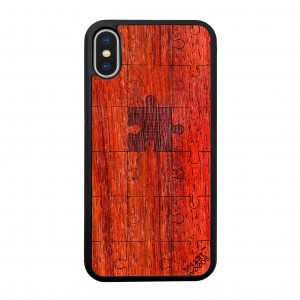 SMARTWOODS OBUDOWA PUZZLE RED ACTIVE iPhone X/Xs