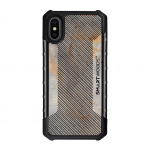 SMARTWOODS OBUDOWA SOLID ARMOR WAVY LAYOUT iPhone X/Xs CONCRETE