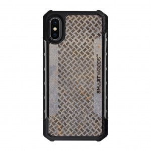 SMARTWOODS OBUDOWA SOLID ARMOR 5-WILLOW PATTERN BARS iPhone X/Xs CONCRETE