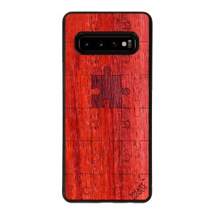 SMARTWOODS OBUDOWA PUZZLE RED SAMSUNG GALAXY S10
